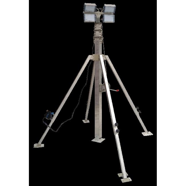 Осветительная вышка СПС-Р 4 м LED 4х100