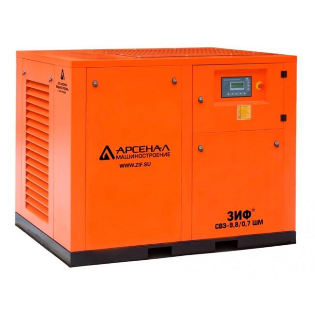 Электрический винтовой компрессор ЗИФ-СВЭ-7,3/1,3 ШМЧ прямой привод