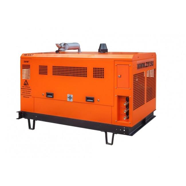 Винтовой дизельный компрессор ЗИФ-ПВ-6/0,7 (на раме)